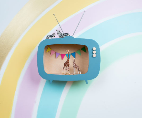 dusty blue TV shelf 01