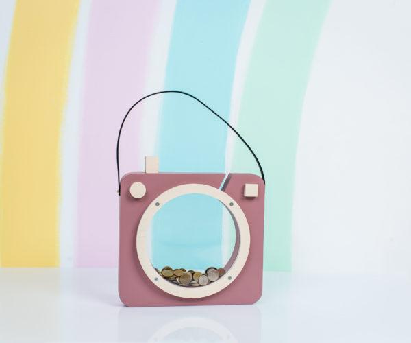 dusty pink photoshaped piggy bank 01
