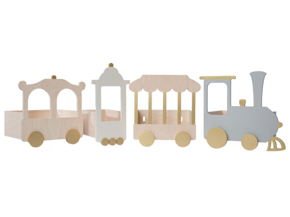 train shelf wooden version kids room