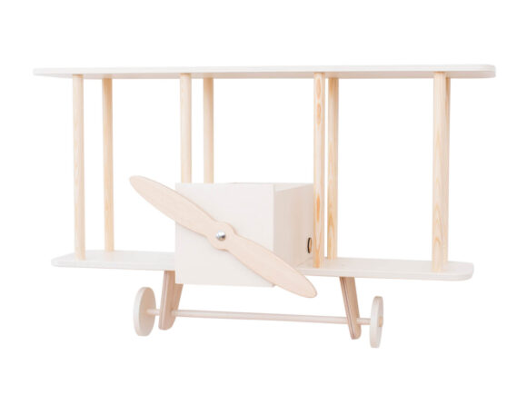 white biplane shelf wooden 01