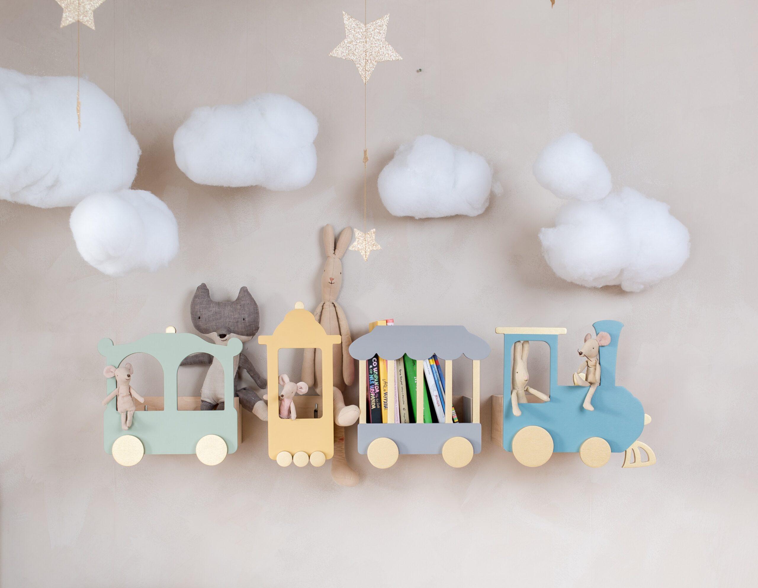 train book shelf for kids