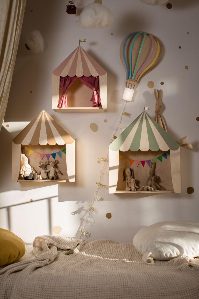 circus shelves set kids room Kinderzimmer Regal