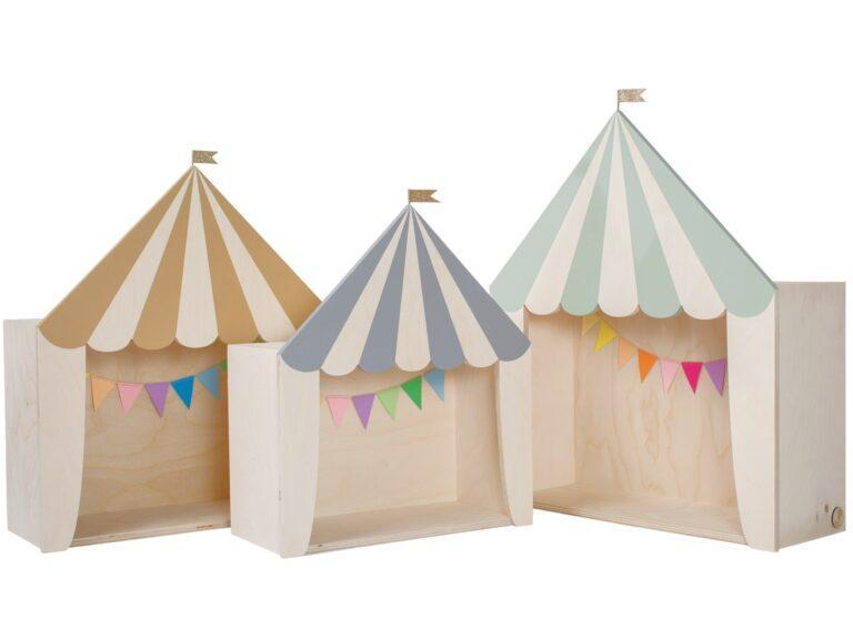 Kinderregal Kinderzimmer Zirkus circus shelves kids room